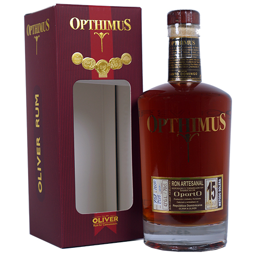 Opthimus barricas de Oporto Finish 15 år 43% 70cl, Dominikan