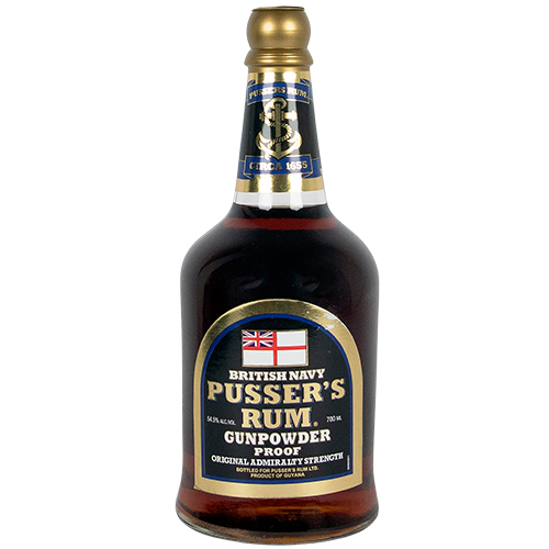 Pusser's British Navy Rum Black Label Gunpowder Proof 54,5%